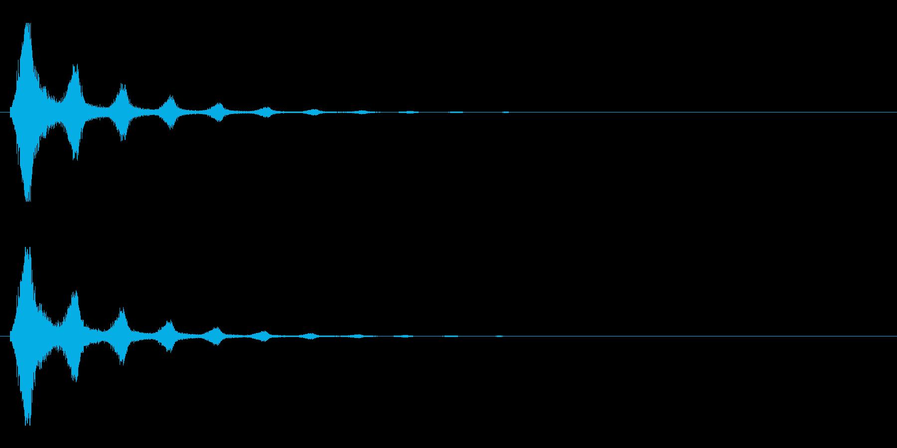 レーザー音-154-2の再生済みの波形