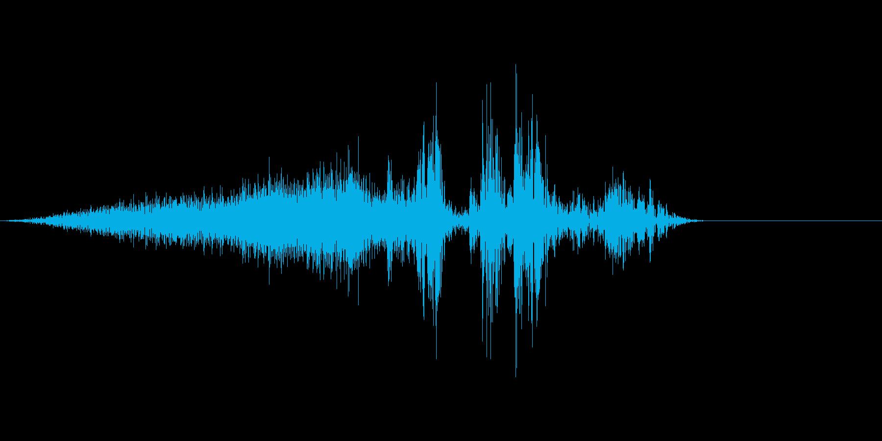本のページをめくる音の再生済みの波形