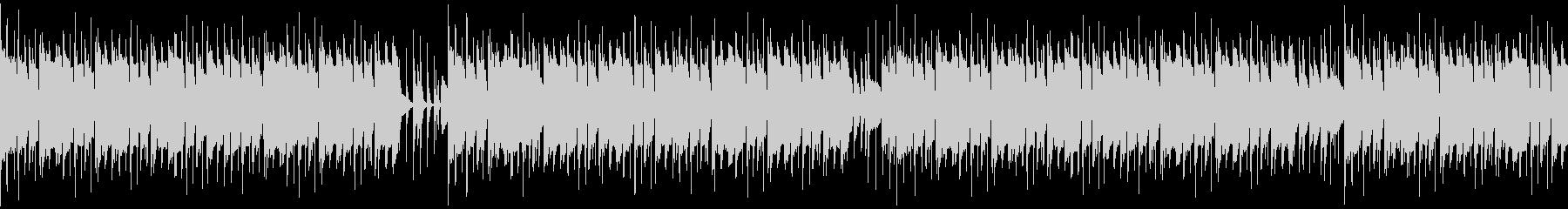 ドラムとウッドベースのファンキージャズの未再生の波形