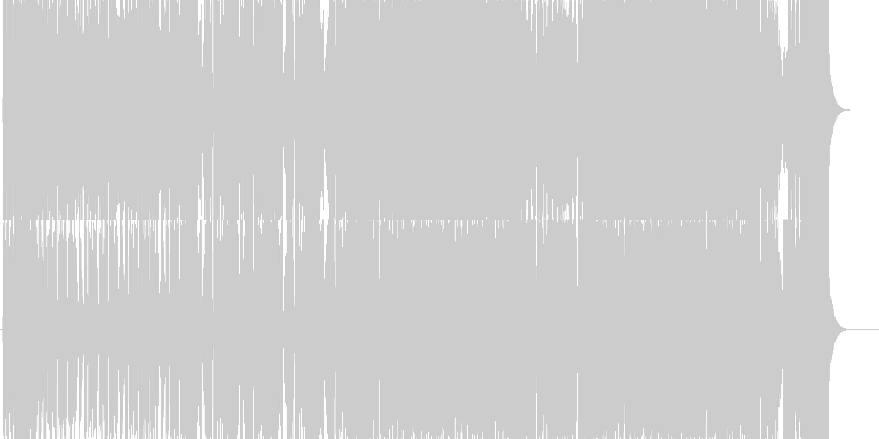 ミディアムテンポのエレクトロニカの未再生の波形