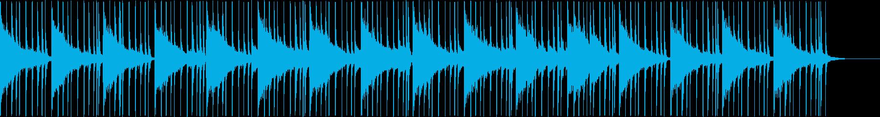 ジャズ風のお洒落なアンビエントの再生済みの波形