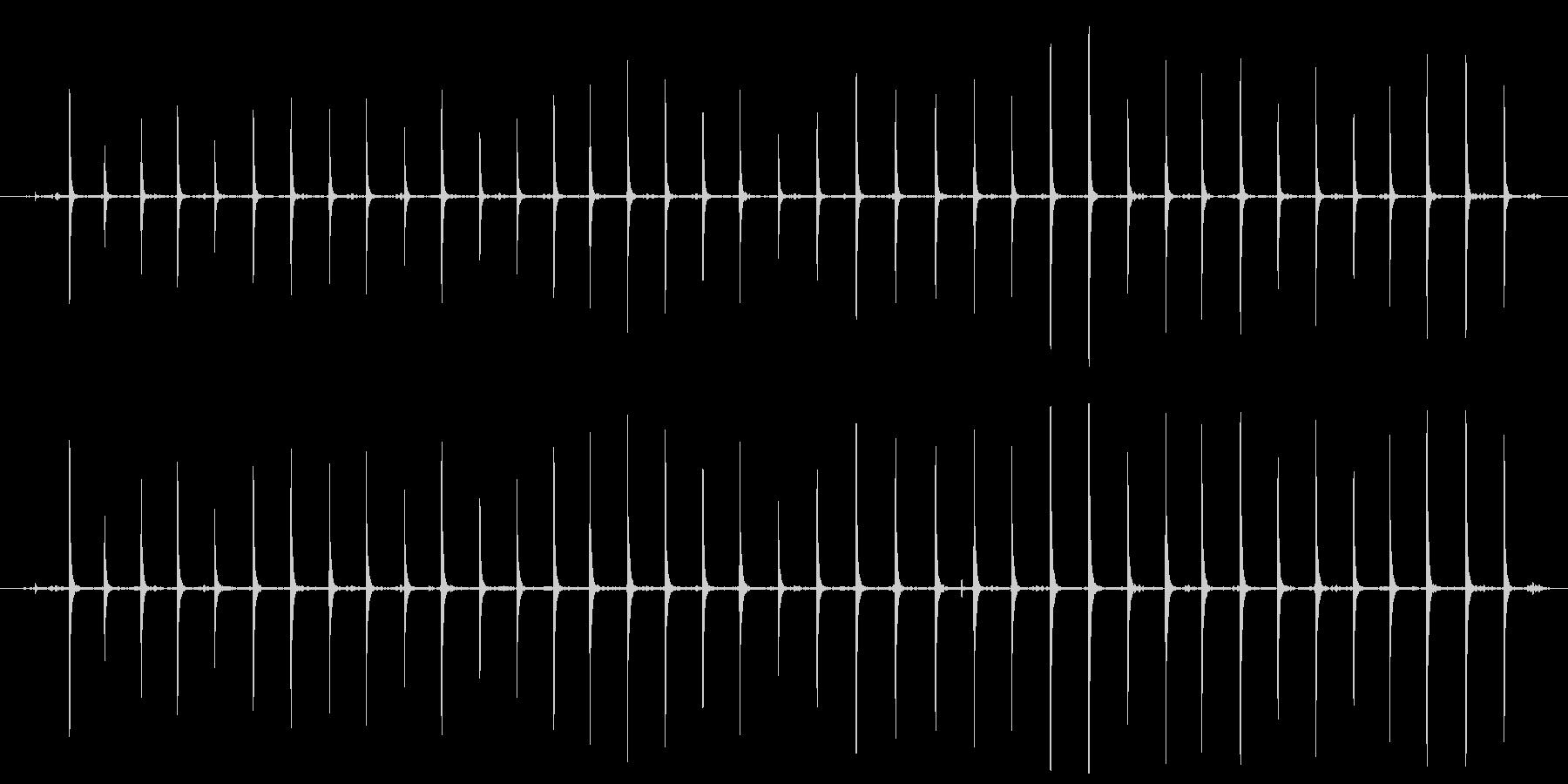 【生活音】木魚の未再生の波形