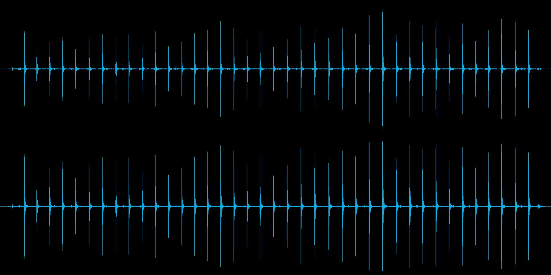 【生活音】木魚の再生済みの波形
