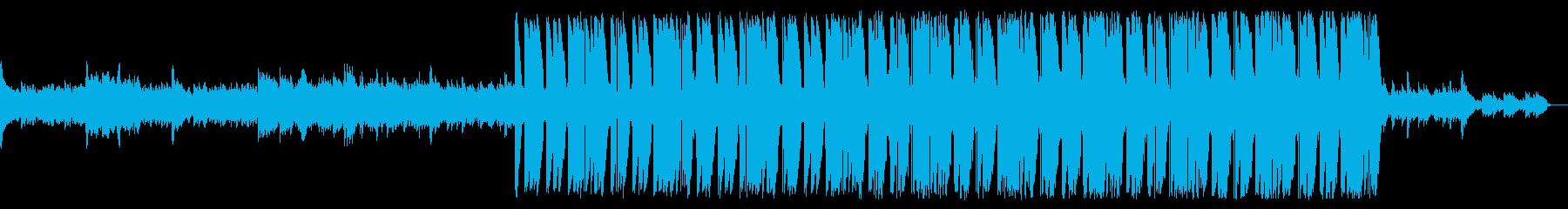 イルカと対話するバラードトラップビート曲の再生済みの波形