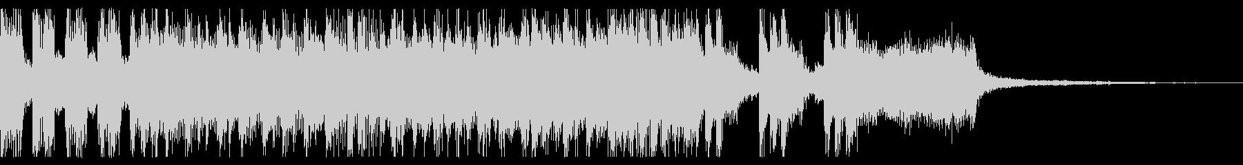 レトロゲーム風のクールなジングルの未再生の波形