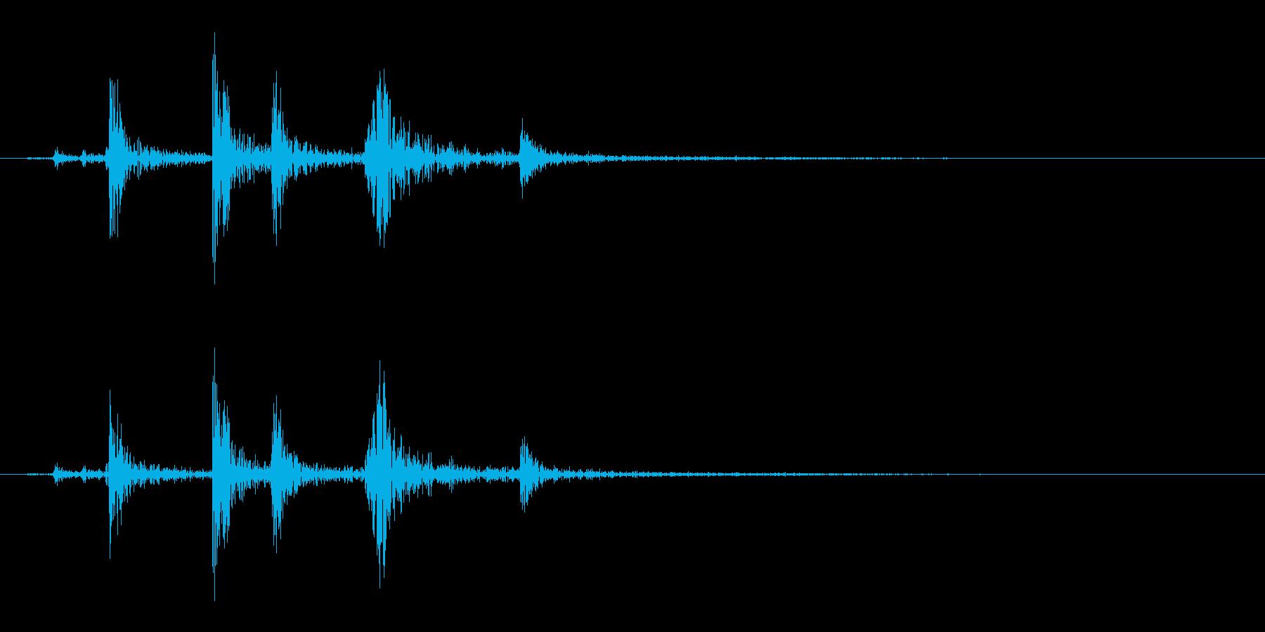 【生録音】パッケージ 開封音 12の再生済みの波形