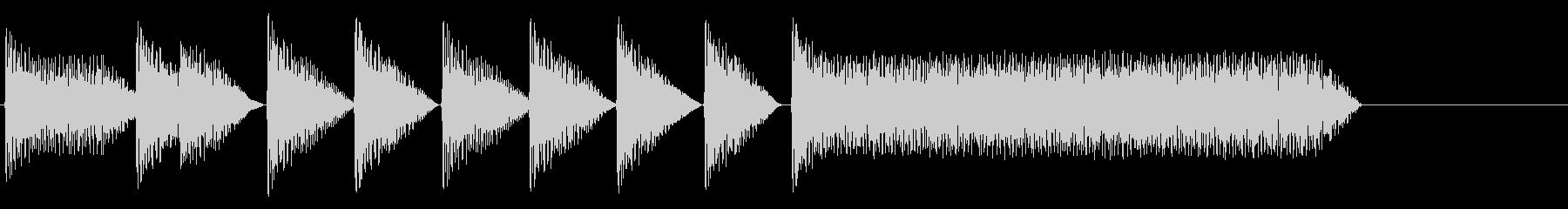 8bitジングル#8スタート&クリアの未再生の波形