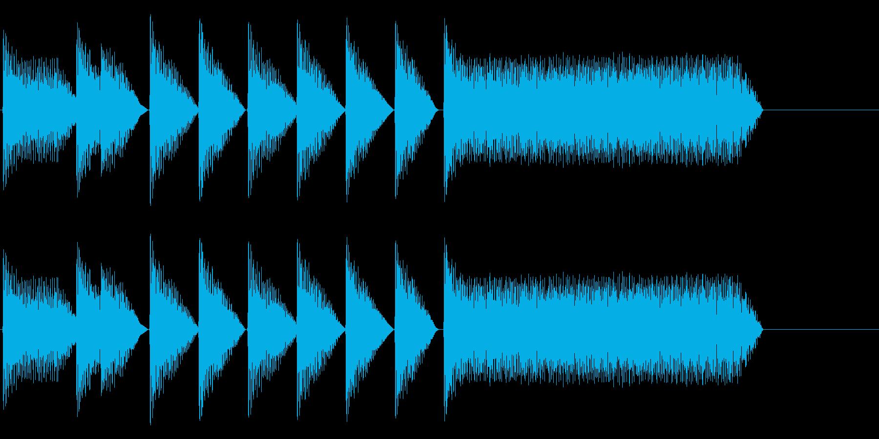 8bitジングル#8スタート&クリアの再生済みの波形