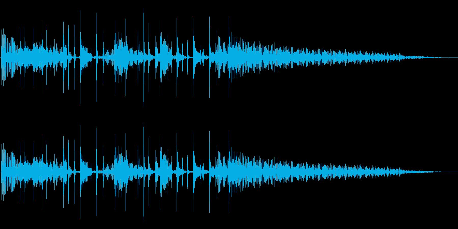 スタイリッシュなスラップベースジングル②の再生済みの波形