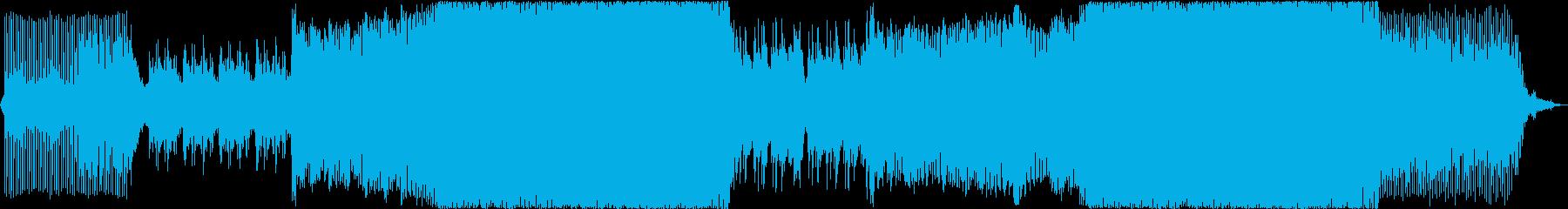 感動的で前向きな気持ちになれるEDMの再生済みの波形
