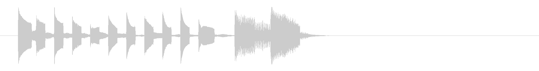 明るくかわいいシンプルな電子音の未再生の波形