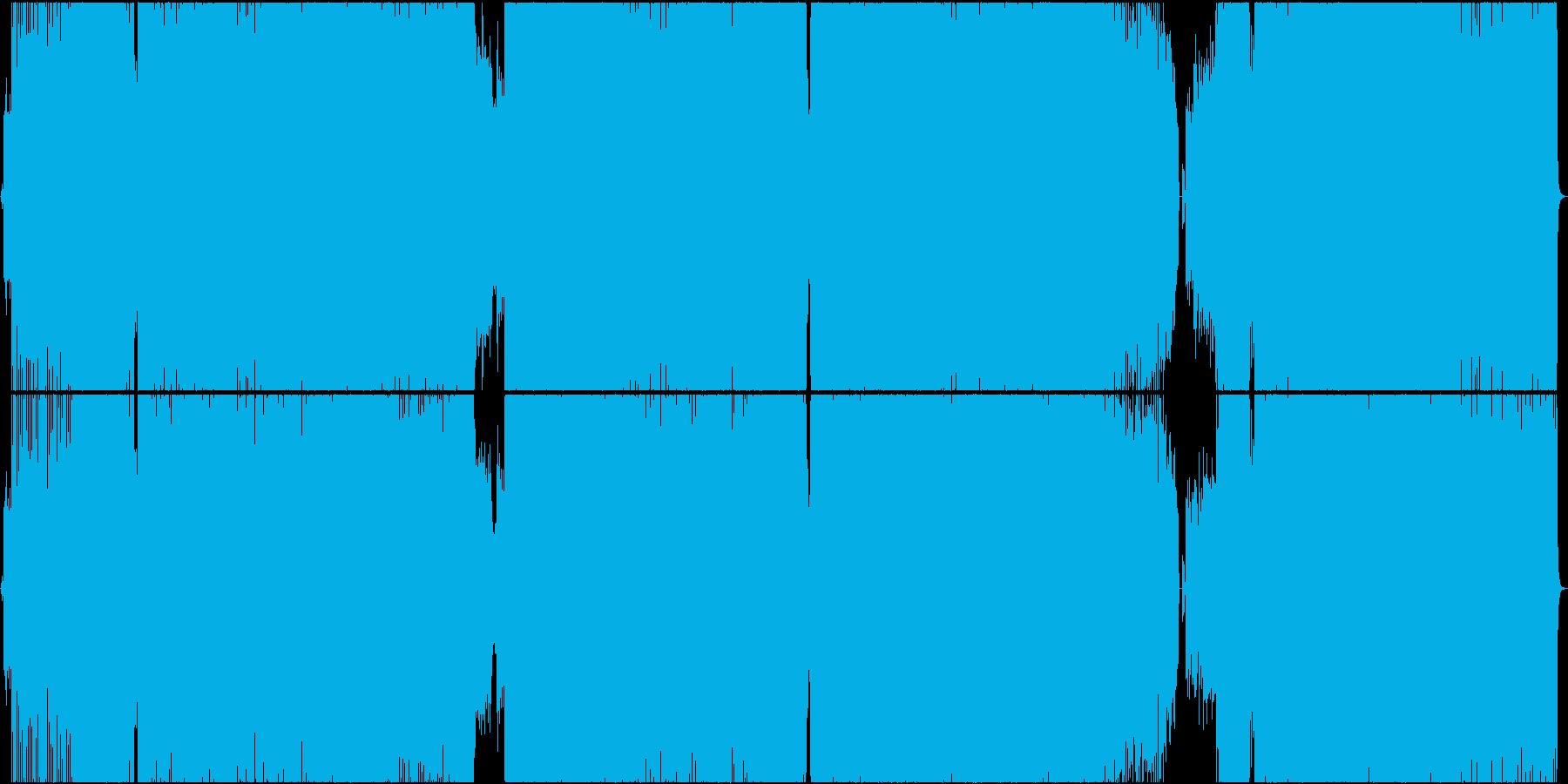 和風ボーカロイドロック風の再生済みの波形