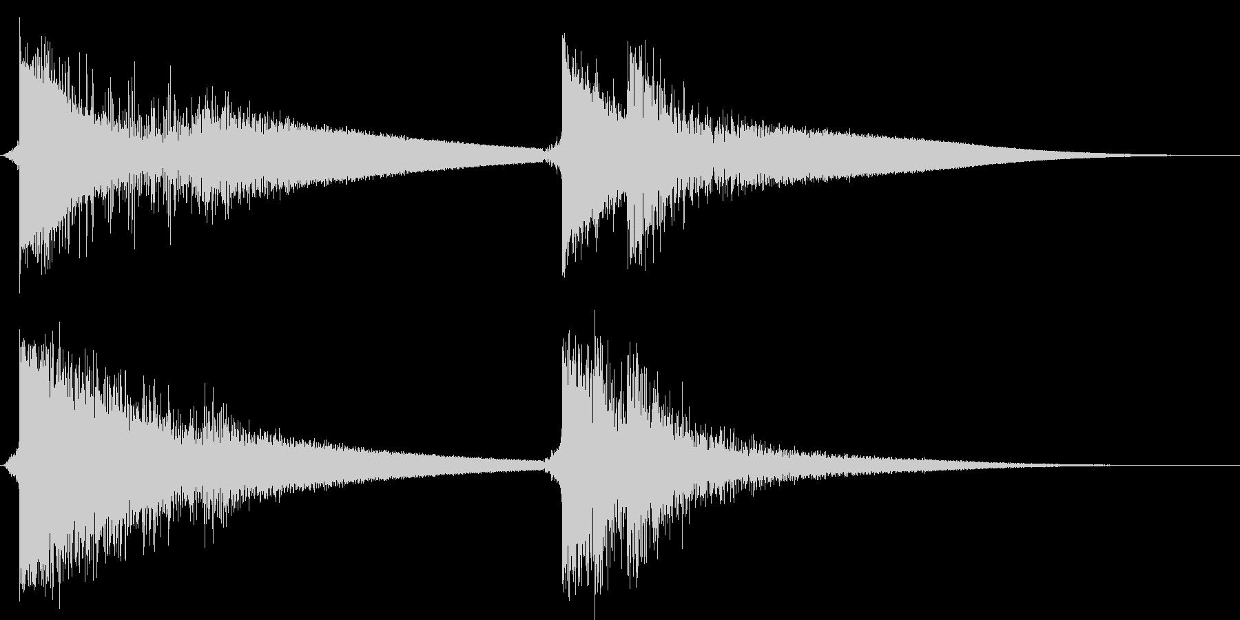 クラッカーを鳴らす(4つ同時)の未再生の波形