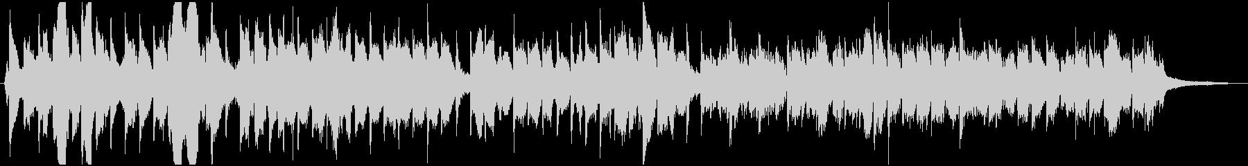 チェロとピアノによる柔らかな和風曲の未再生の波形