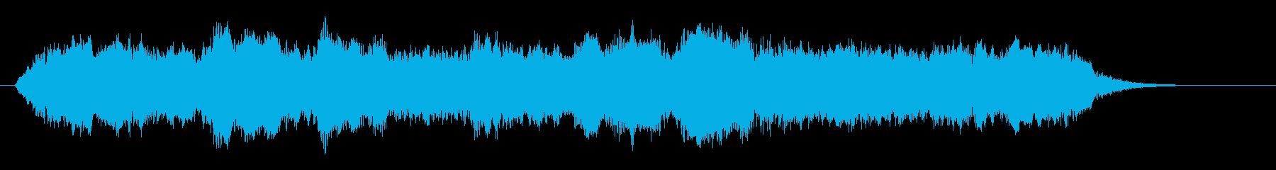 優雅で繊細なヒーリングジングルの再生済みの波形