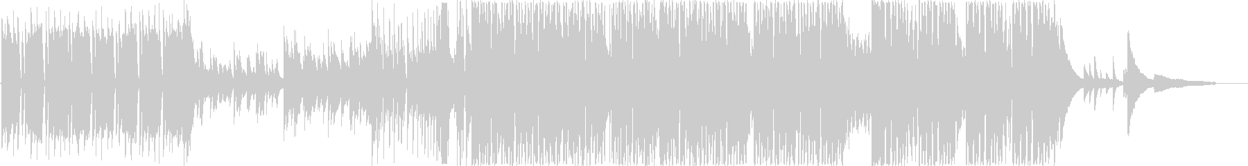 ウキウキ系の軽やかなピアノEDMの未再生の波形