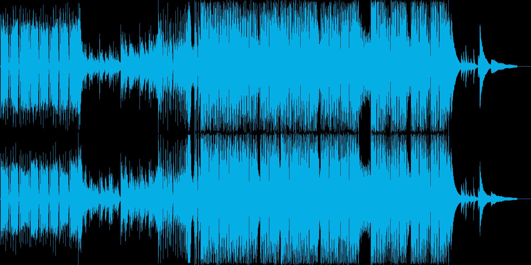 ウキウキ系の軽やかなピアノEDMの再生済みの波形