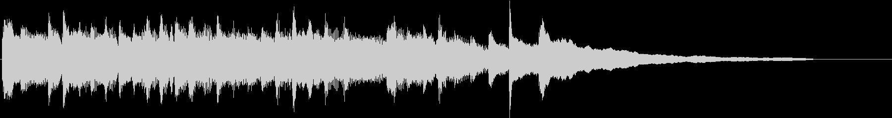 綺麗で切ないピアノソロのサウンドロゴの未再生の波形