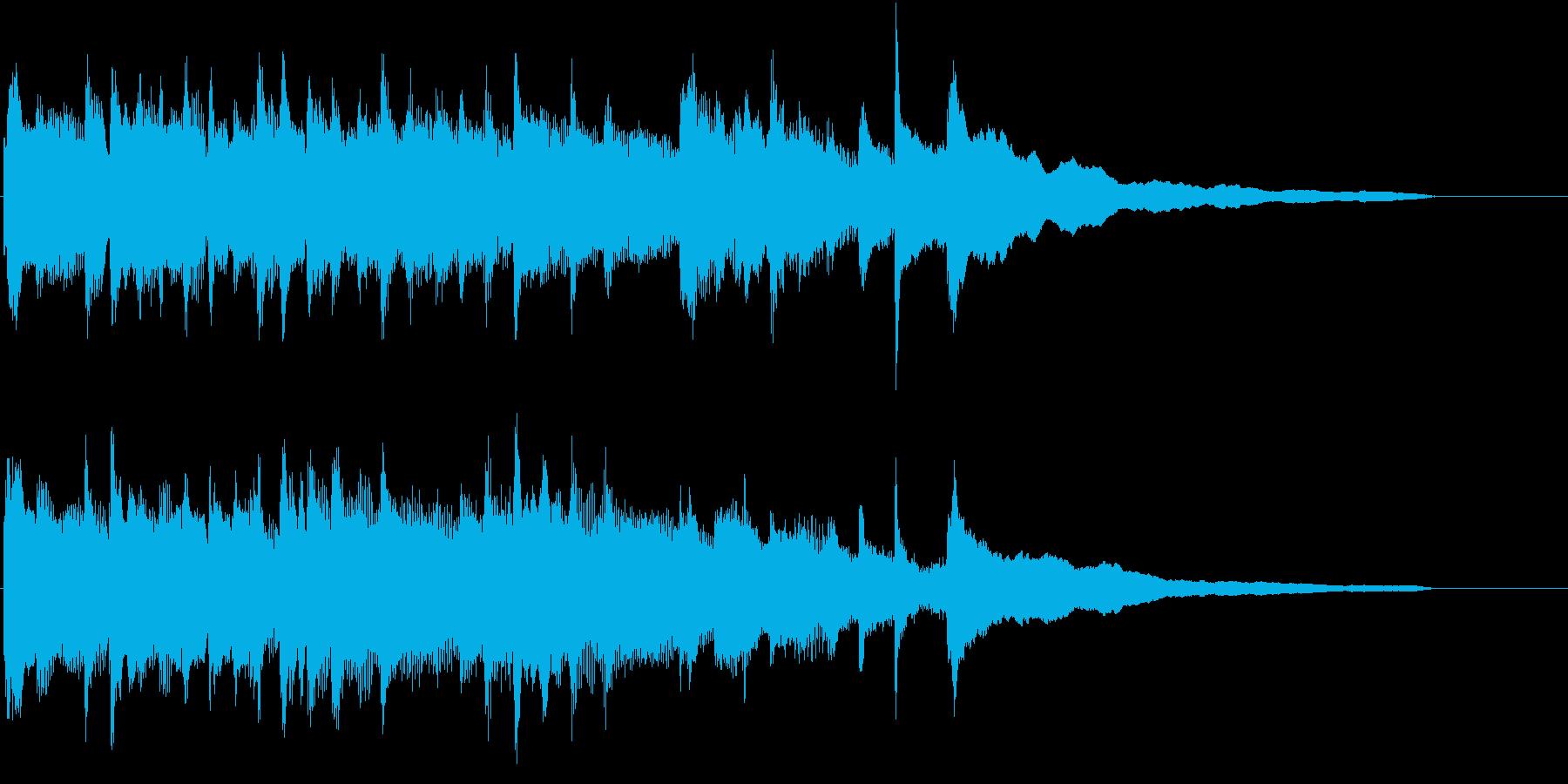 綺麗で切ないピアノソロのサウンドロゴの再生済みの波形