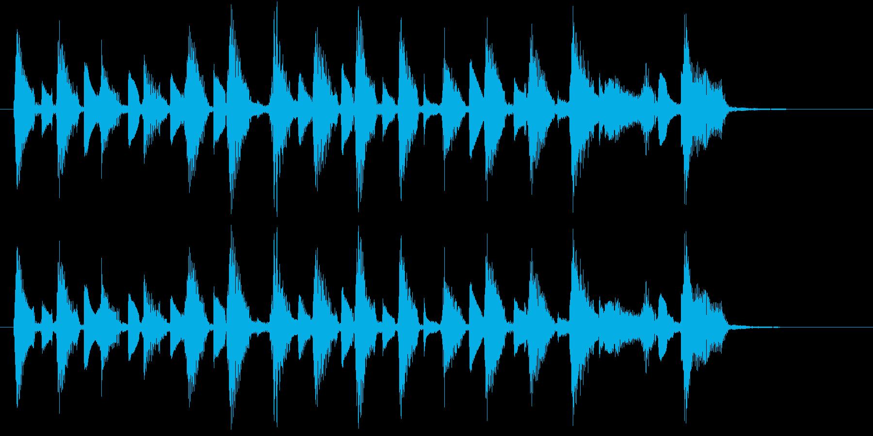 ウクレレ2本(短いフレーズ系)の再生済みの波形