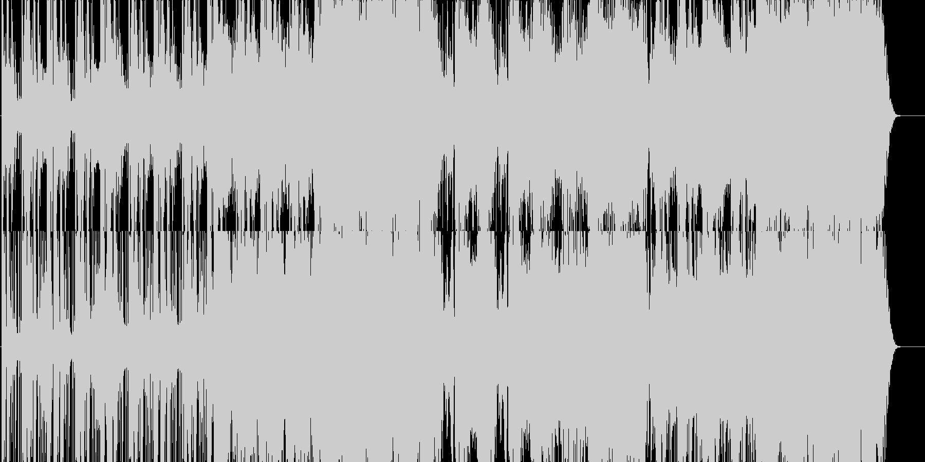 壮大で緊迫した雰囲気の派手なオーケストラの未再生の波形