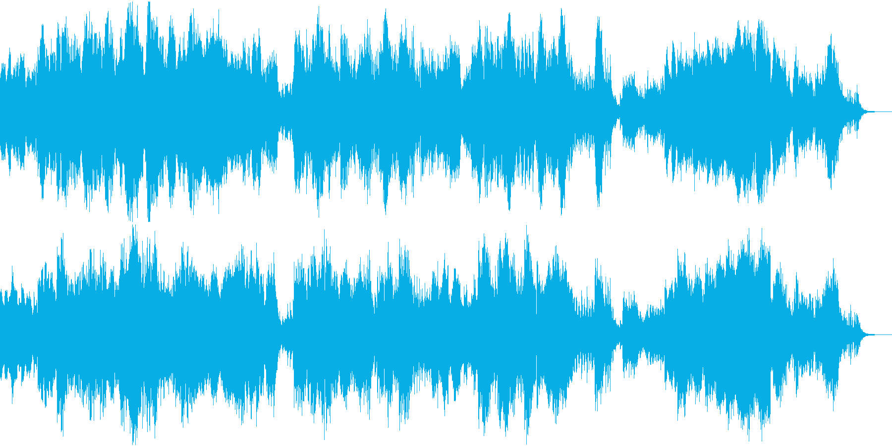 神秘的な広がりのあるシンセのアンビエントの再生済みの波形
