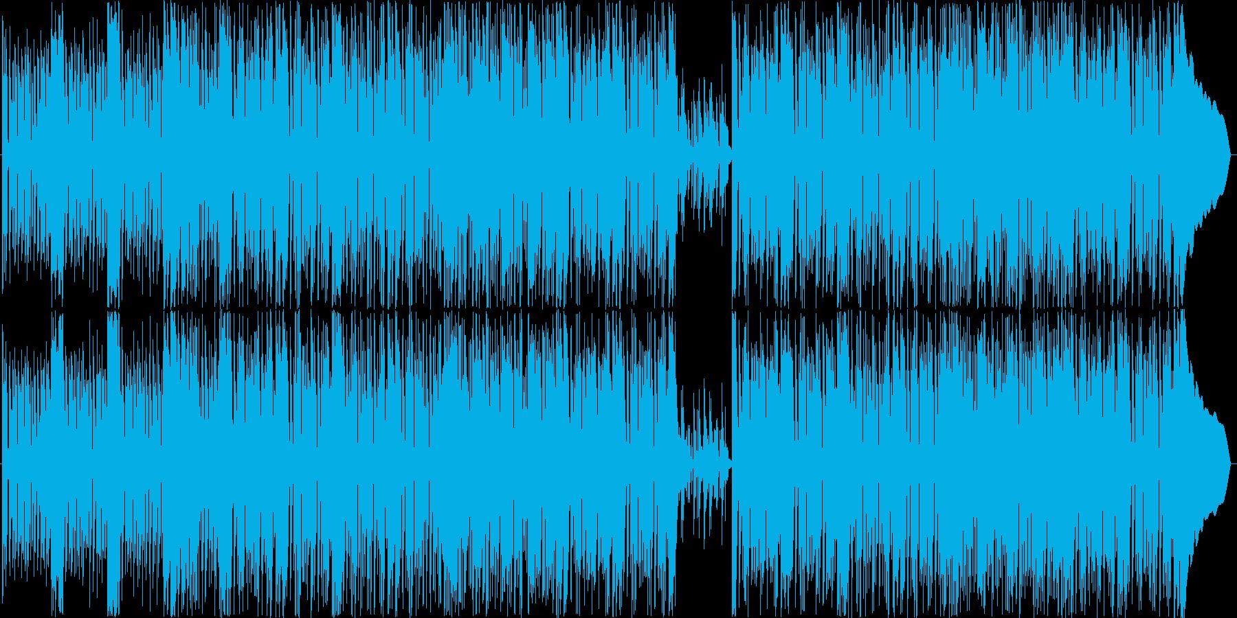 男らしいファンクロックの再生済みの波形
