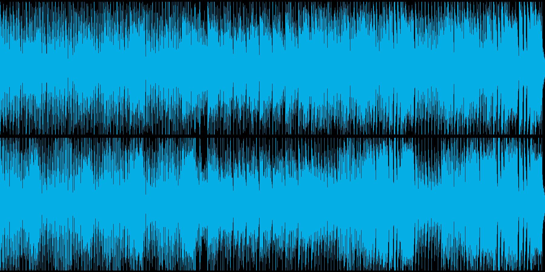 草原に合いそうな元気なポップス(ループ)の再生済みの波形