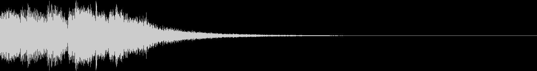 決定 アイコン 出現 表示  レベル Eの未再生の波形