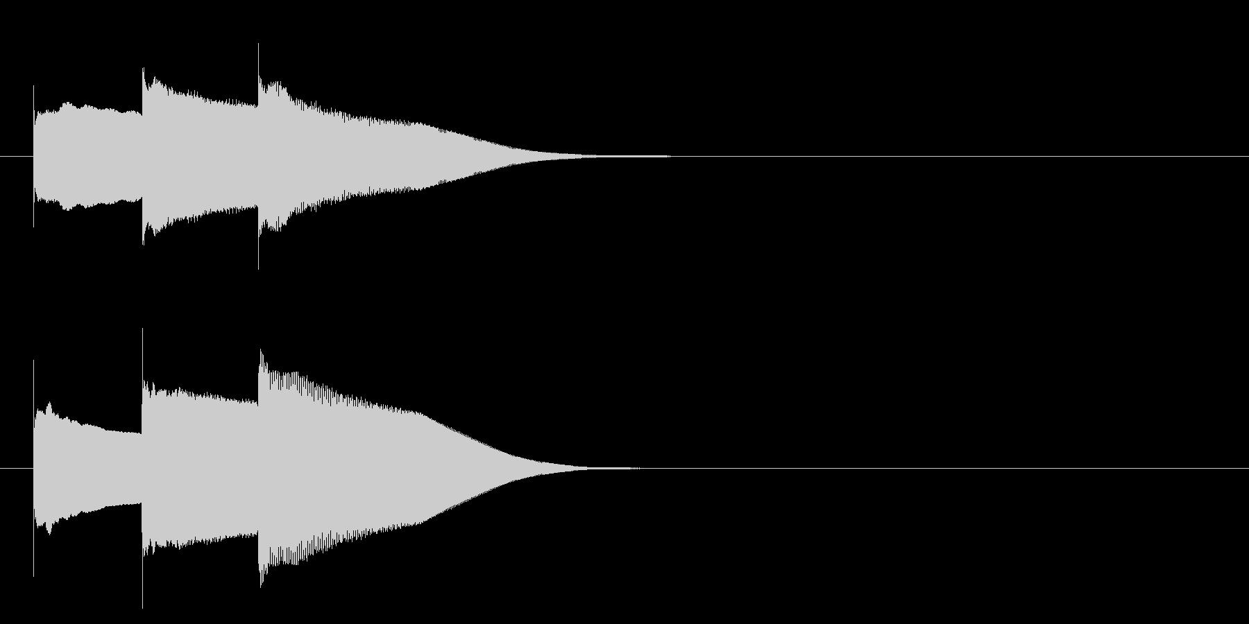 グロッケン系 キャンセル音5(中)の未再生の波形