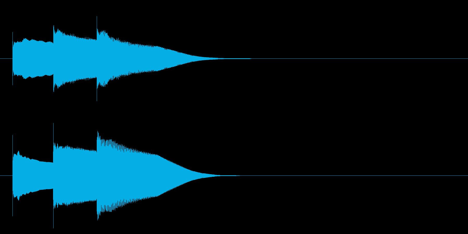 グロッケン系 キャンセル音5(中)の再生済みの波形