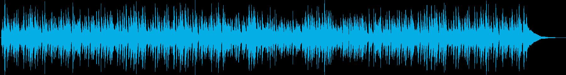 ピアノとギターのまったりボサノバの再生済みの波形
