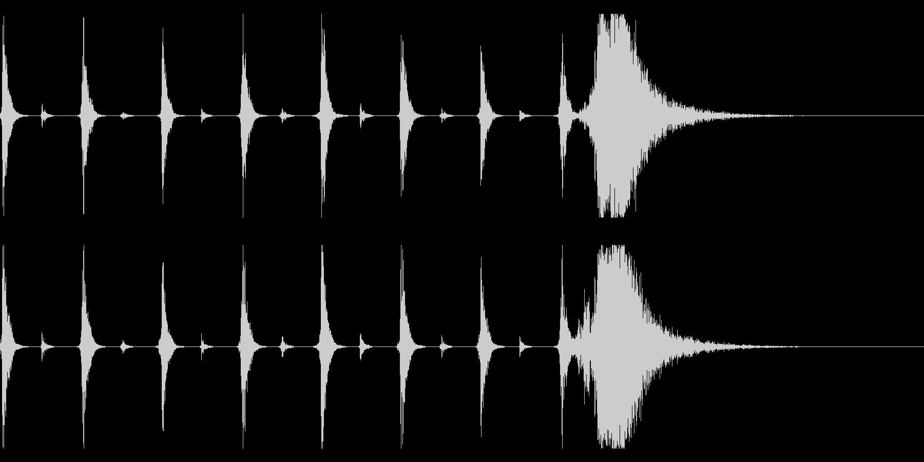 シンキングタイム用/秒針の効果音 !2の未再生の波形