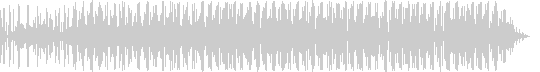 複雑なリズムの絡み合う曲の未再生の波形