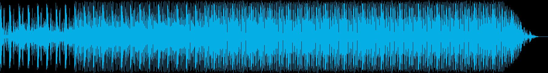 複雑なリズムの絡み合う曲の再生済みの波形