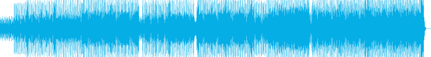 都会的ななテクノ エレキギター有・長尺の再生済みの波形