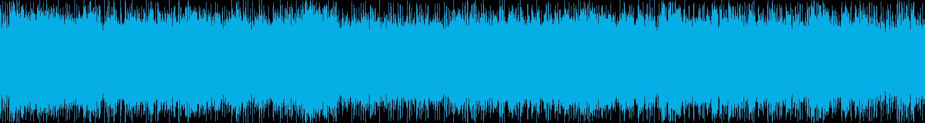 シンフォニックな雰囲気のロックの再生済みの波形