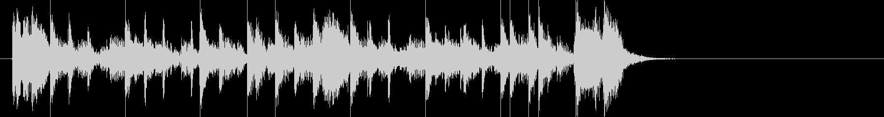 特徴的なベースラインが光るジングルの未再生の波形