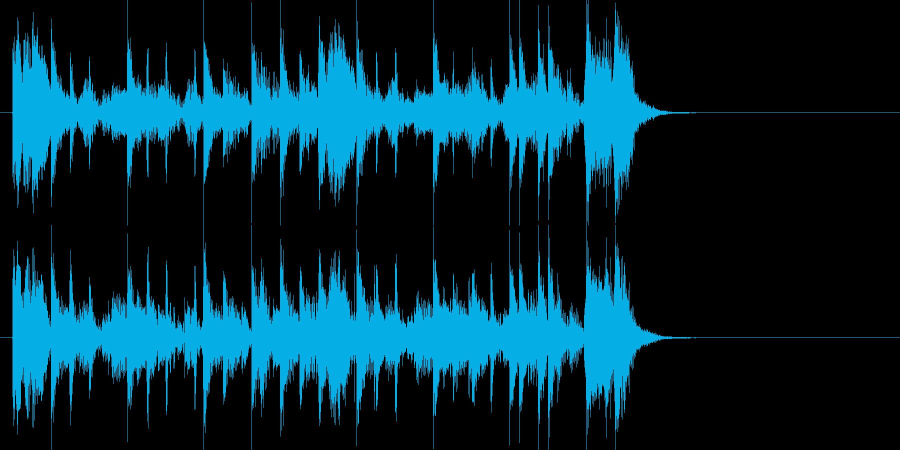 特徴的なベースラインが光るジングルの再生済みの波形