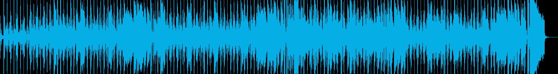 子供向けのわんぱくなブルース風BGMの再生済みの波形