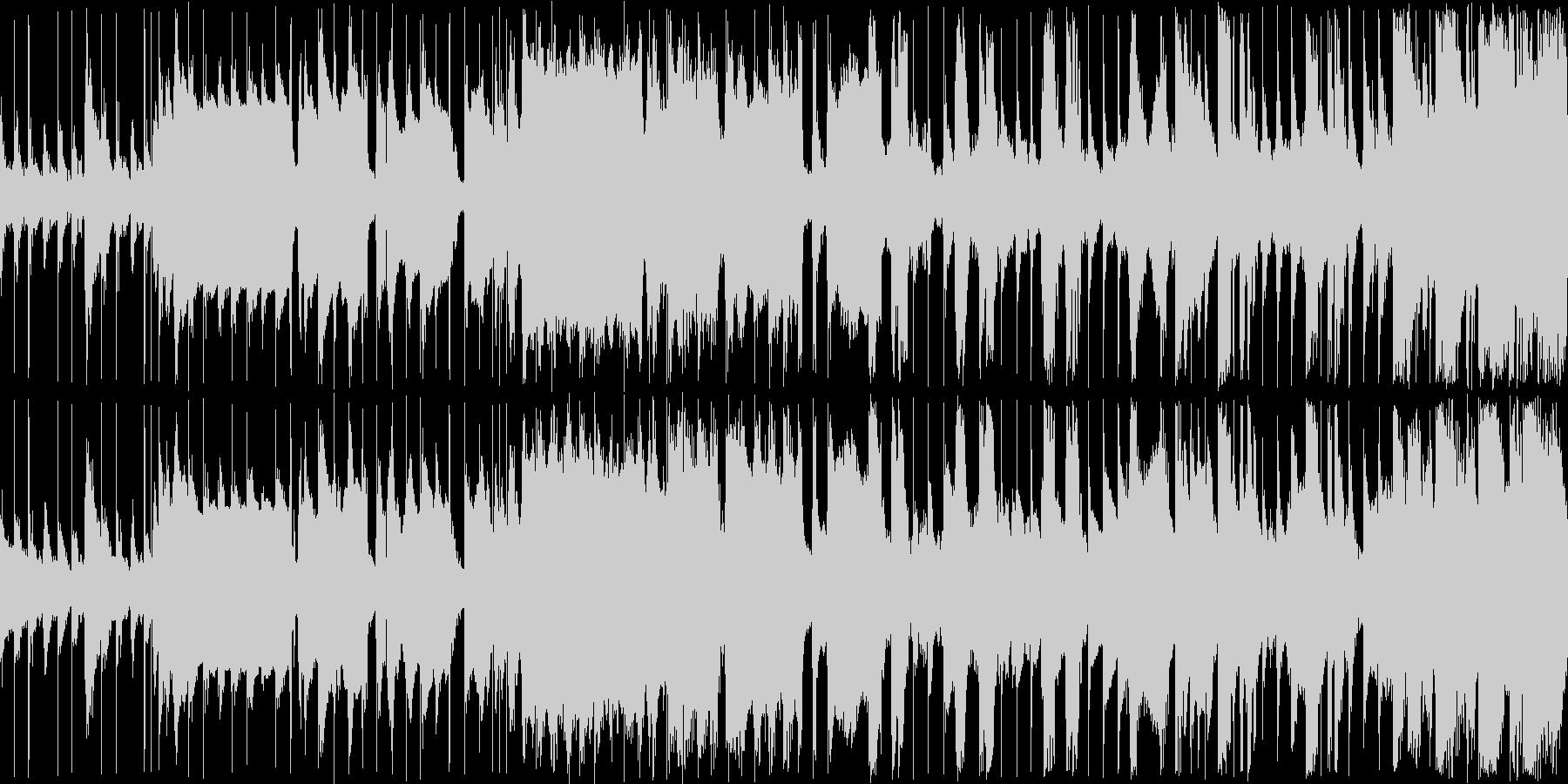 のどかでほのぼのとしたループ楽曲の未再生の波形