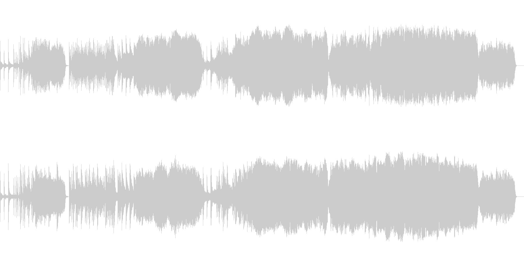 悲しい雰囲気の曲(チェロのソロあり)の未再生の波形