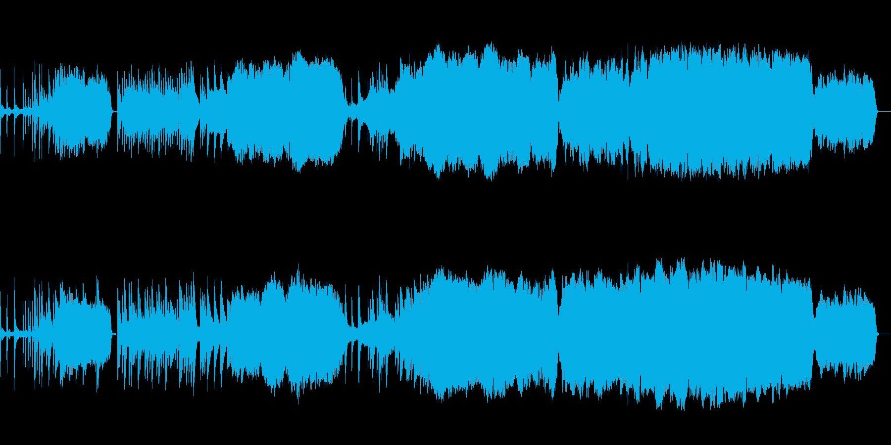 悲しい雰囲気の曲(チェロのソロあり)の再生済みの波形