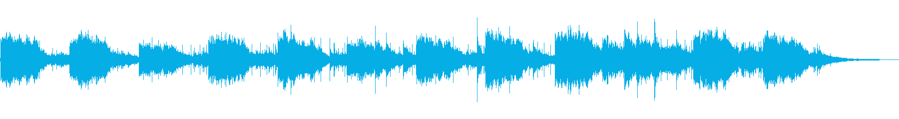 神秘的なニューエイジミュージックの再生済みの波形