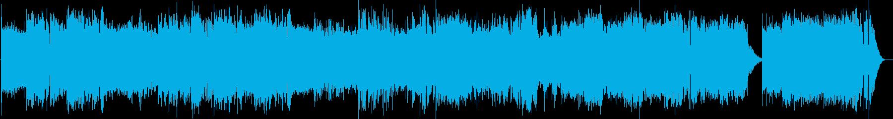 英語洋楽:後期ビートルズ・屋上バラード風の再生済みの波形