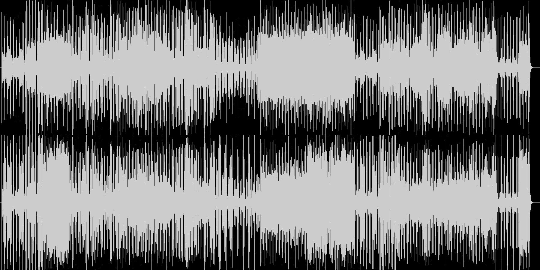 躍動感のあるトランペット中心のジャズの未再生の波形