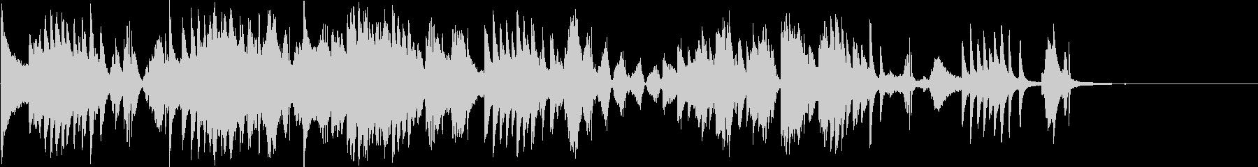 ピアノとエレクトロの静かな曲の未再生の波形