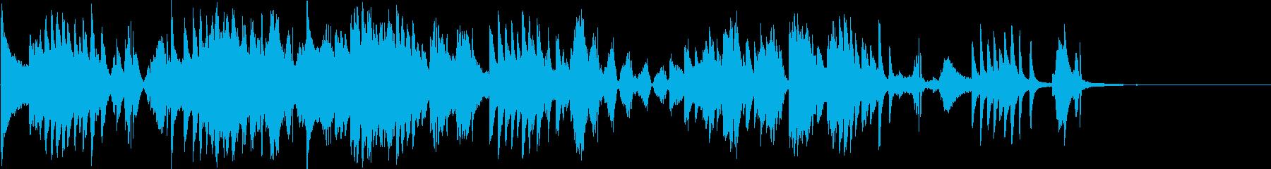 ピアノとエレクトロの静かな曲の再生済みの波形