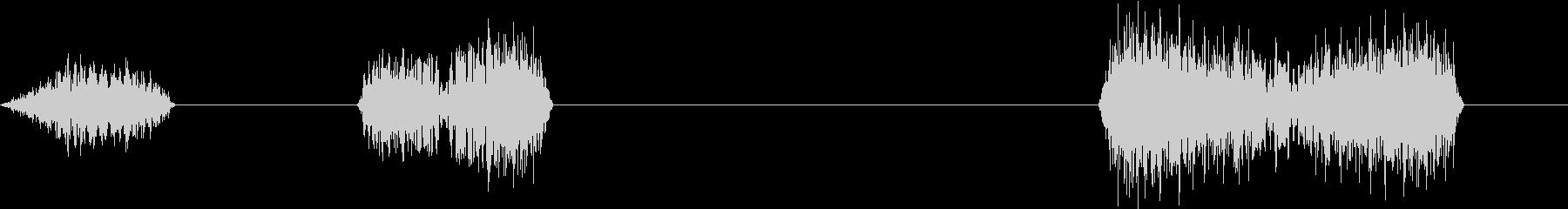 DJプレイ スクラッチ・ノイズ 6 三連の未再生の波形