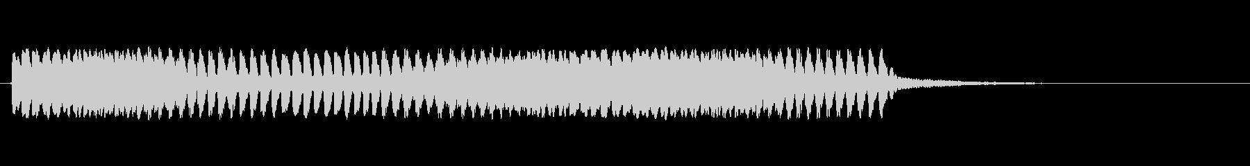 ピアススペースリング3の未再生の波形